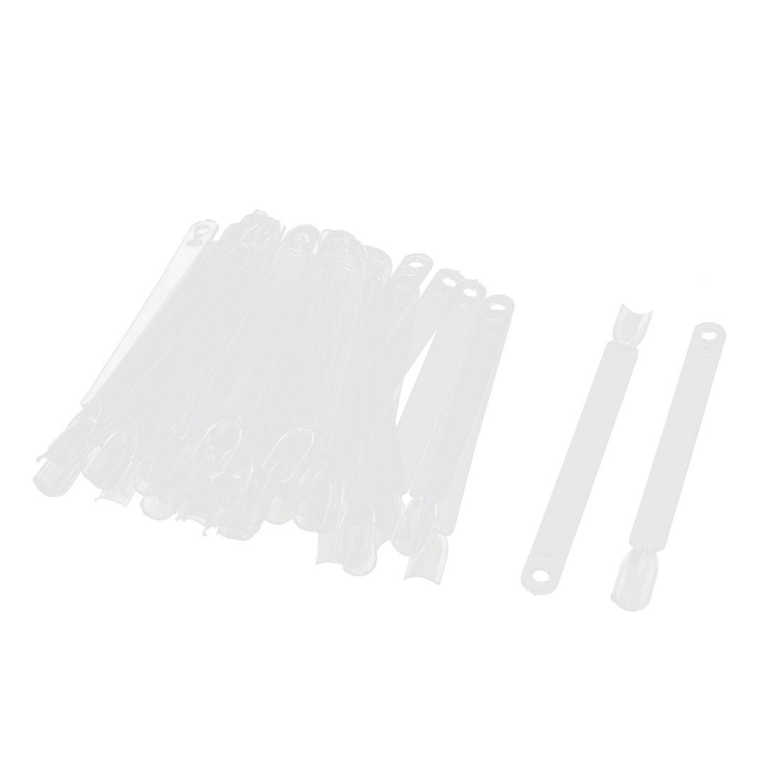 Manicure Plastic Fan Board Nail Art Tips Display Practice Sticks 46 in 1