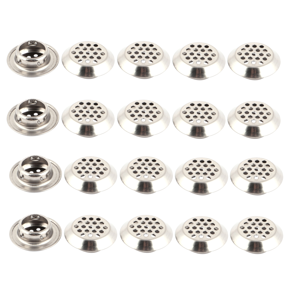 Home Metal Furniture Wardrobe Perforated Mesh Garderobe Air Vents 19mm Dia 20pcs