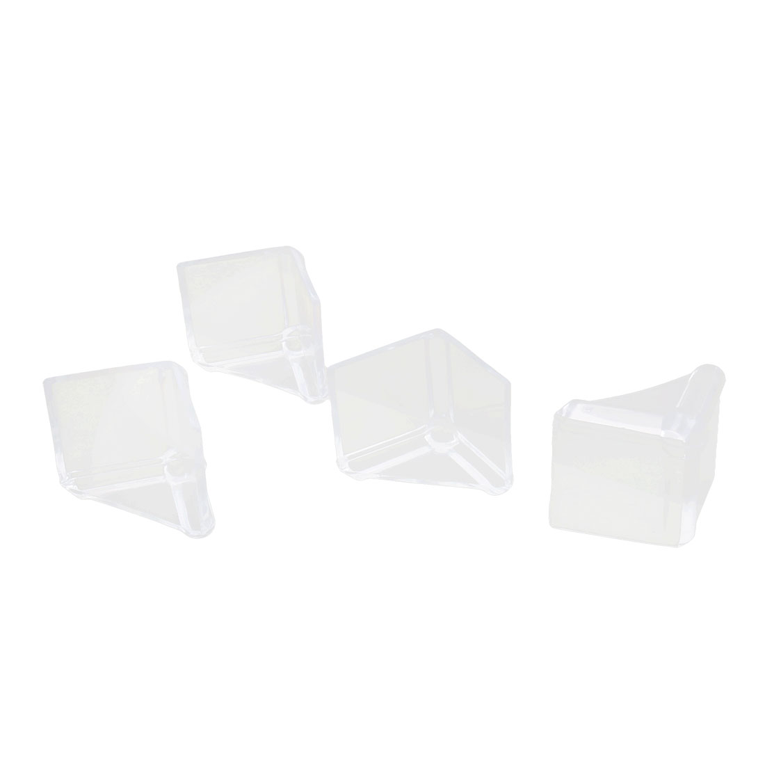 Furniture Table Desk Worktop Corner Guard Cover Cap Bumper Cushion Clear 4pcs