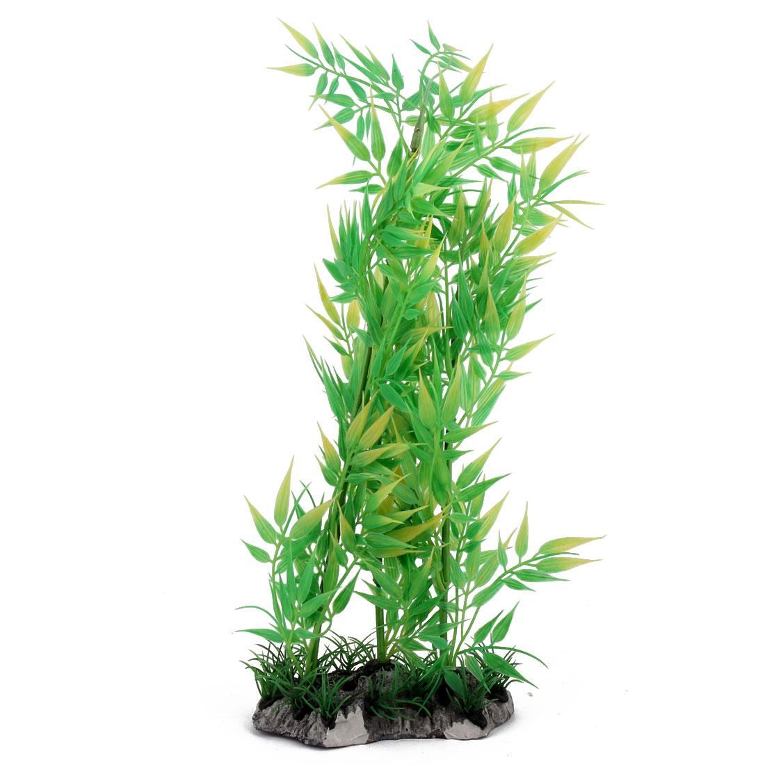 Aquarium Fish Tank Plastic Artificial Plant Aquascape Decor Green