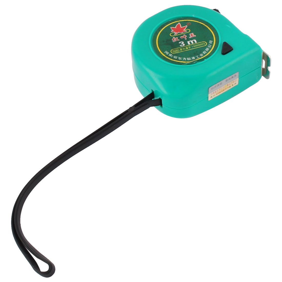 Plastic Case Hand Strap Retractable Measure Tape Ruler Metric Measuring Tool Green 3 Meters Length