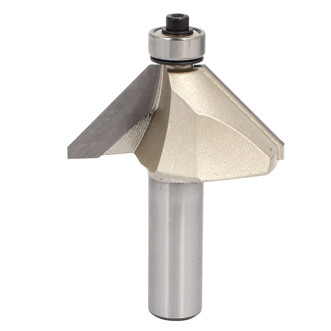 1/2-inch Shank 1-inch Cutting Length Ball Bearing 45 Degree Chamfer Router Bit