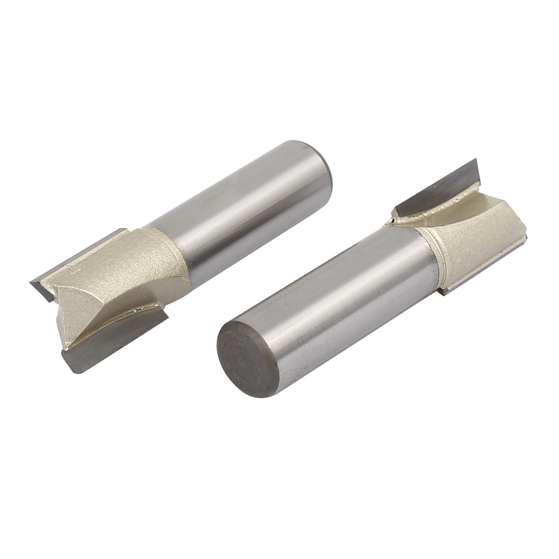 1/2-inch Shank 5/8-inch Cutting Dia 2 Flutes Straight Router Bits Cutters 2pcs
