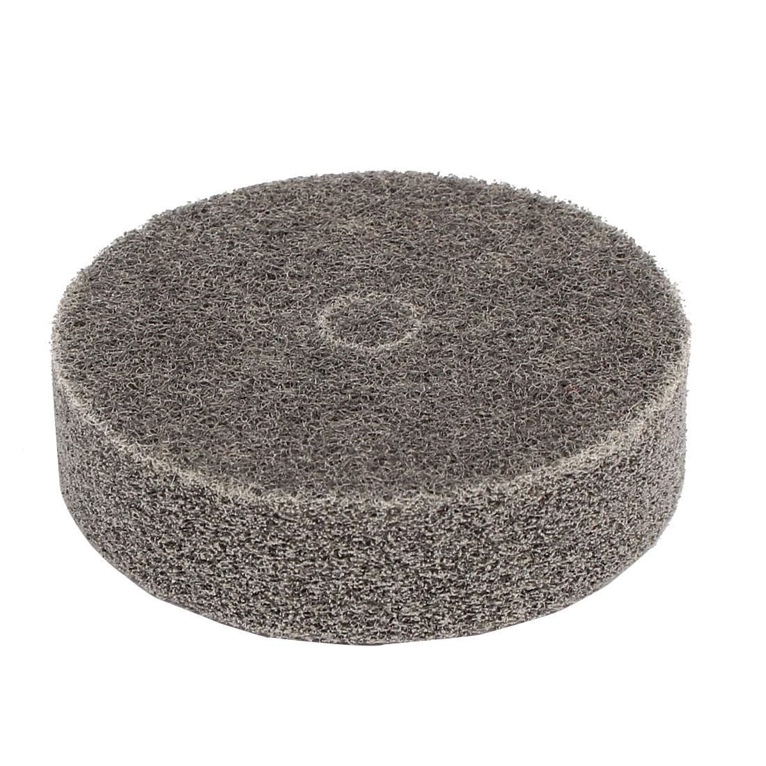 75mm Dia Cylindrical Shape Nylon Fiber Polishing Wheel Buffing Disc Gray