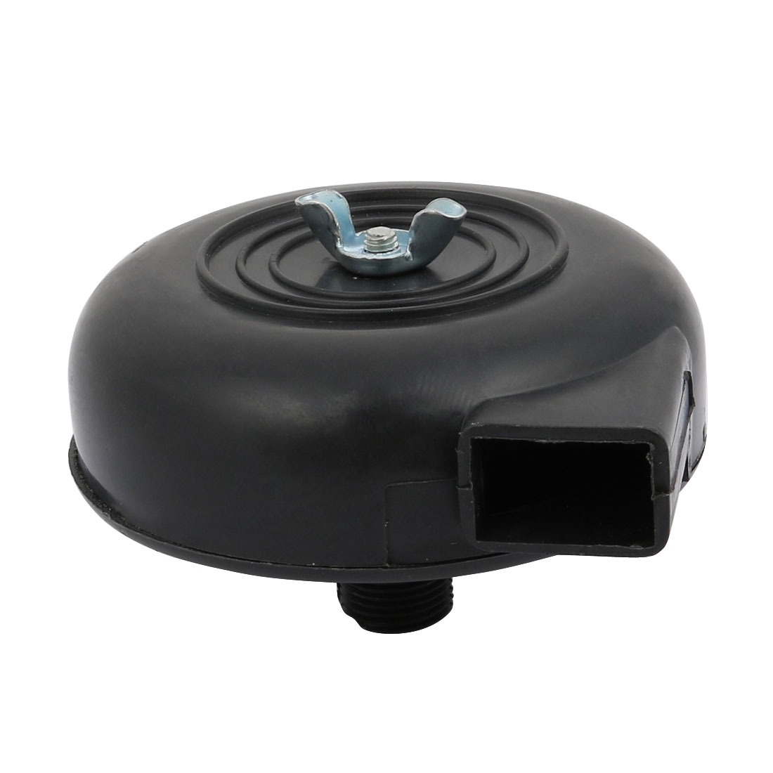 Black Plastic 16mm Male Thread Dia Air Compressor Filter Silencer Muffler