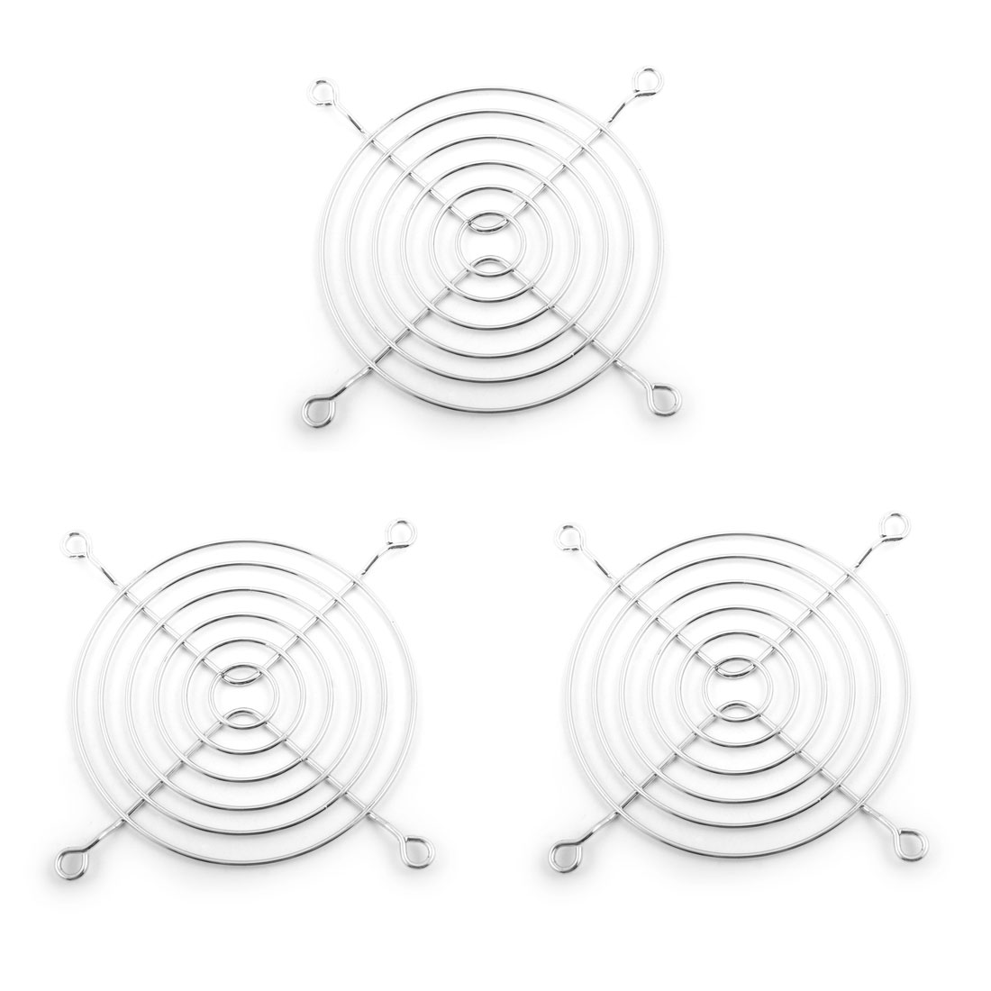85mm Dia Metal Wire PC Computer Grill Finger Protector Axial Fan Guard 3pcs