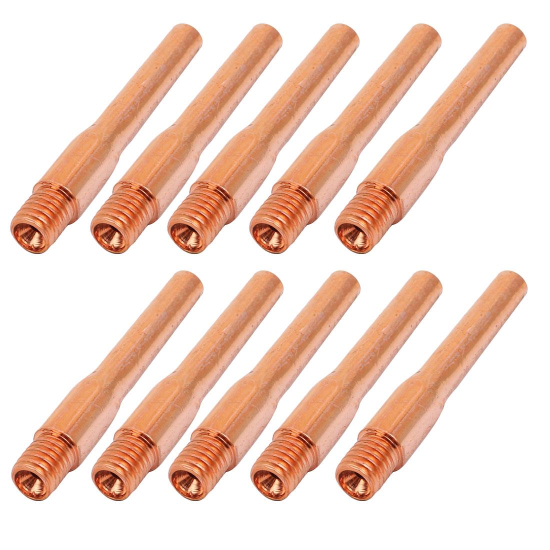 10Pcs Welding Gun 1.2mm x 45mm Copper Contact Tip Repair parts
