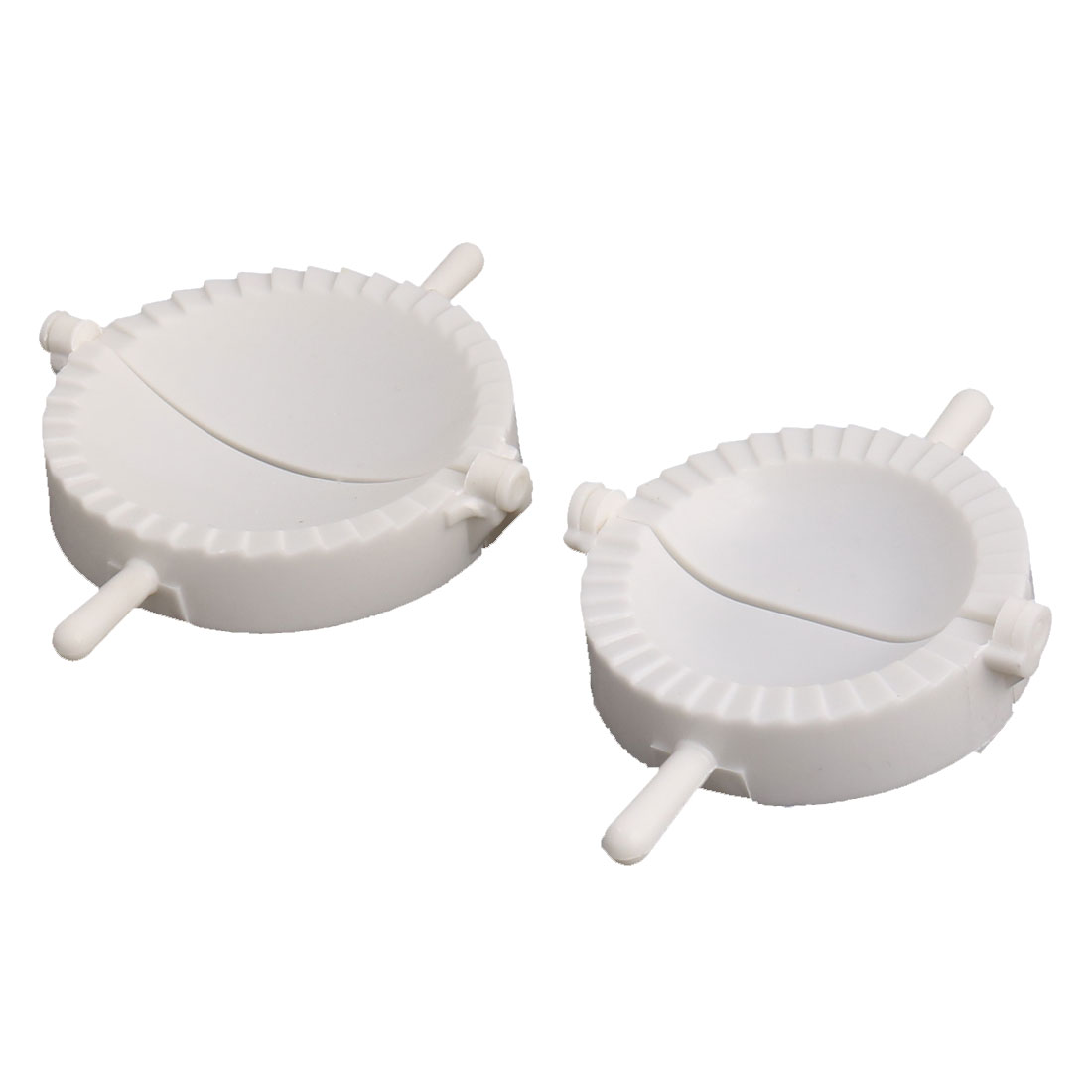 Household Plastic Dumpling Wonton Pastry Mold Dough Press White 2 in 1