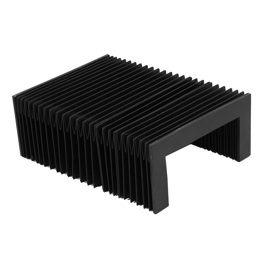 Synthetic Rubber Foldable Accordion Dust Protective Cover Black 160mmx75mm
