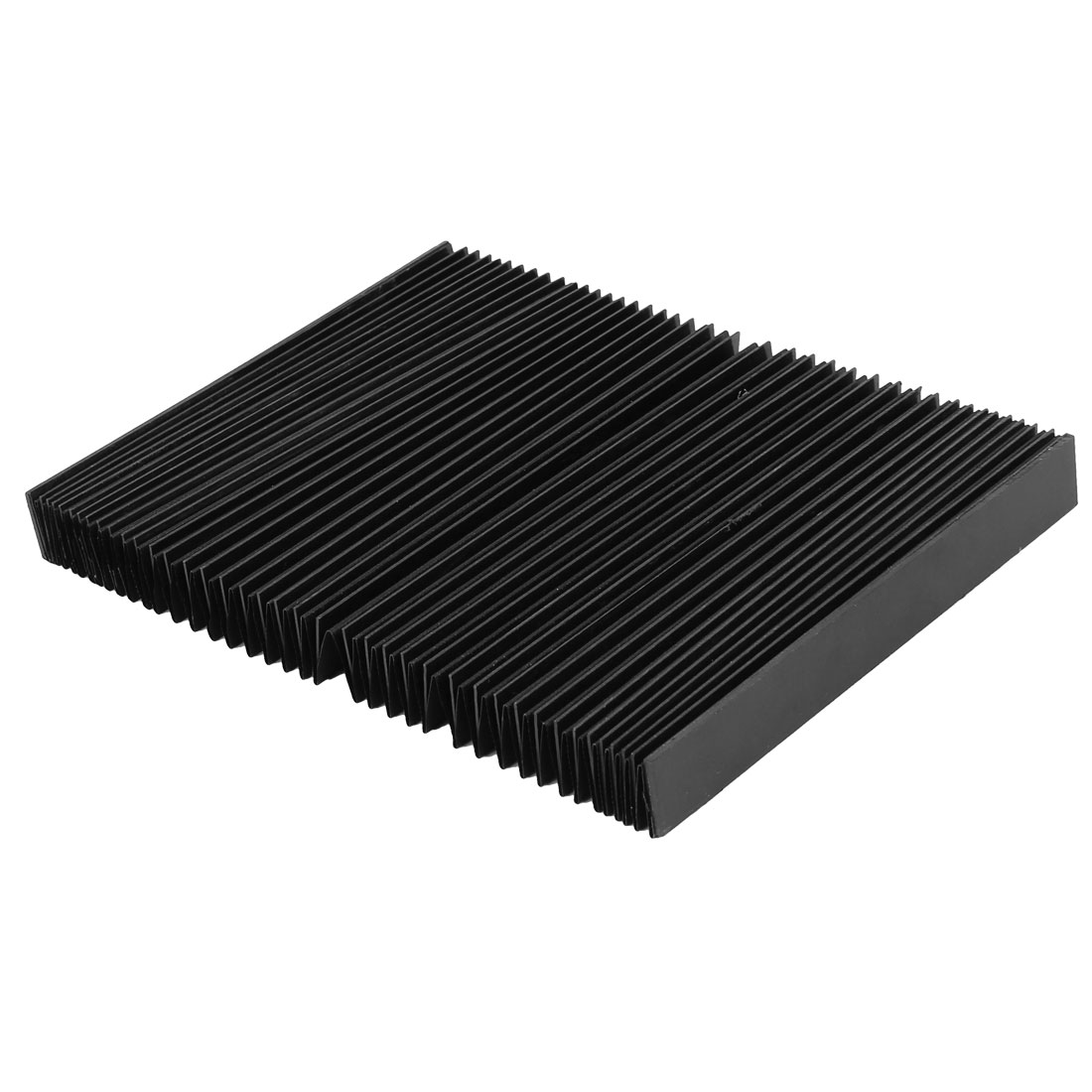 CNC Machine Fitting Foldable Accordion Dust Protective Cover Black 170mm x 20mm