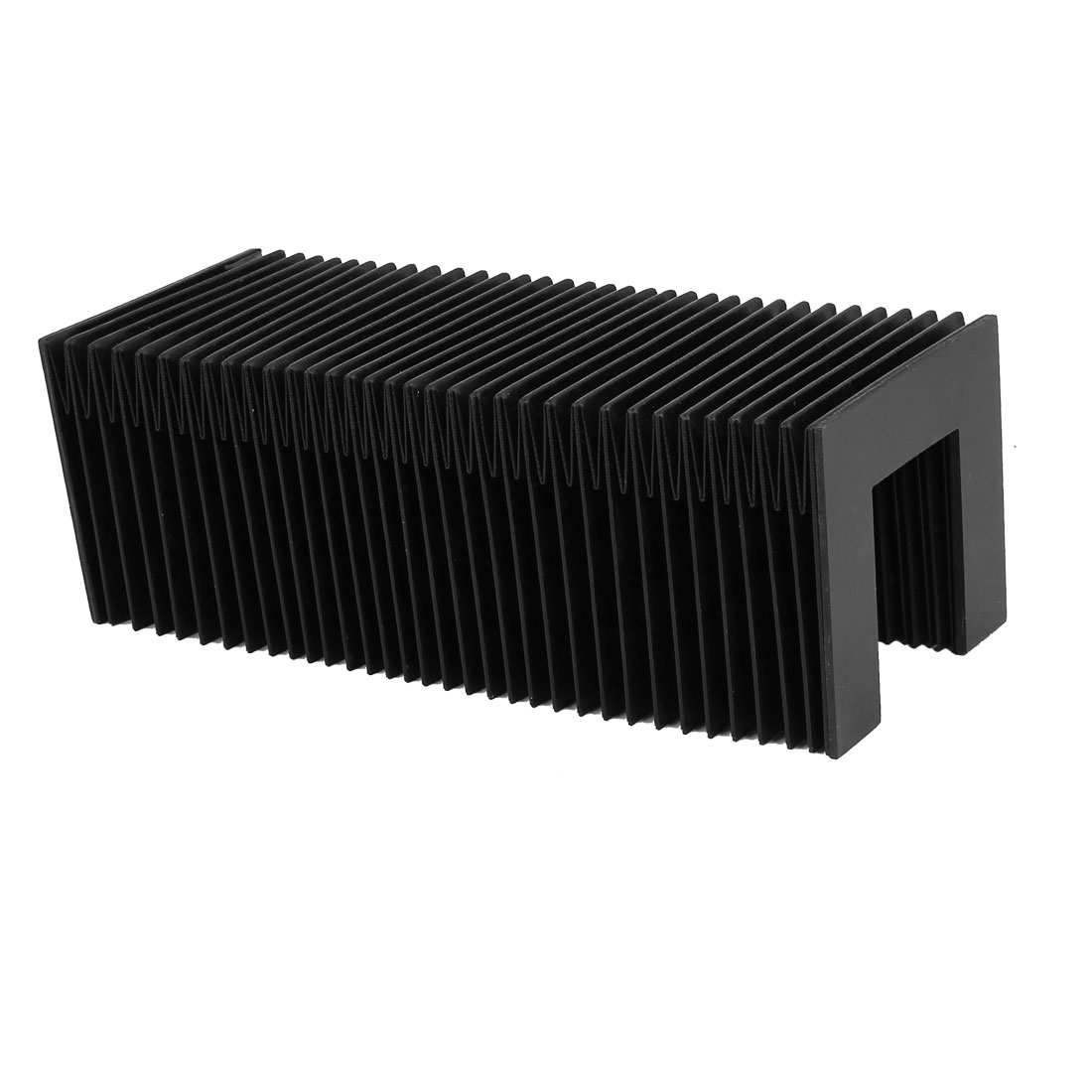Synthetic Rubber Flexible Folded Protective Accordion Dust Cover Black 80mmx75mm