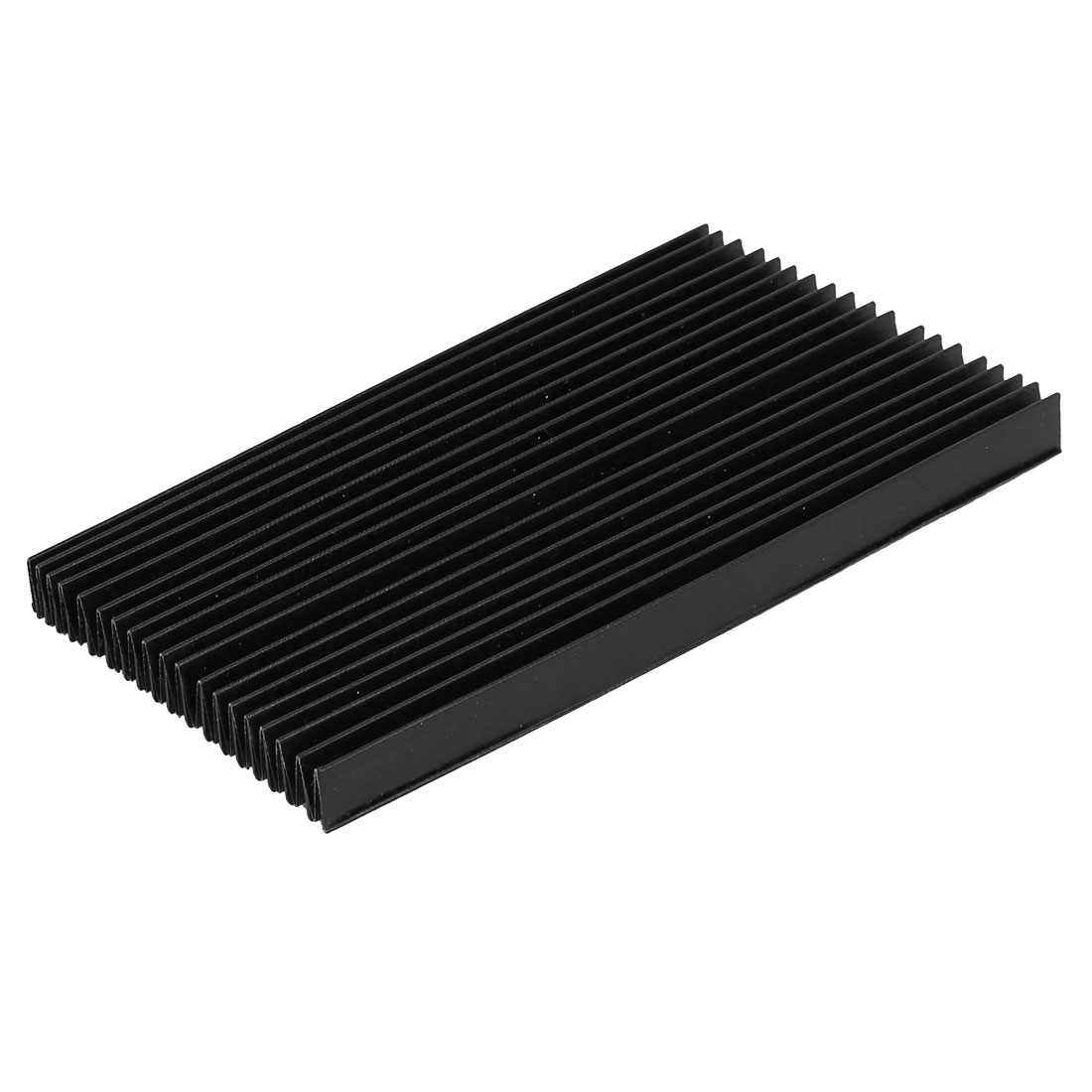 CNC Machine Fitting Foldable Accordion Dust Protective Cover Black 195mm x 15mm