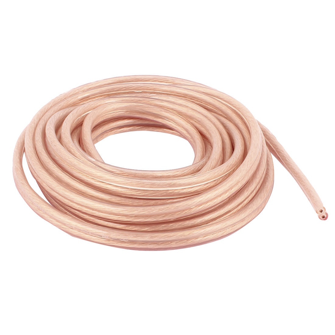 3 Meter 9.8 Ft Speaker 400 Copper Wire Core Cable Coil Car Home Audio Gold Tone