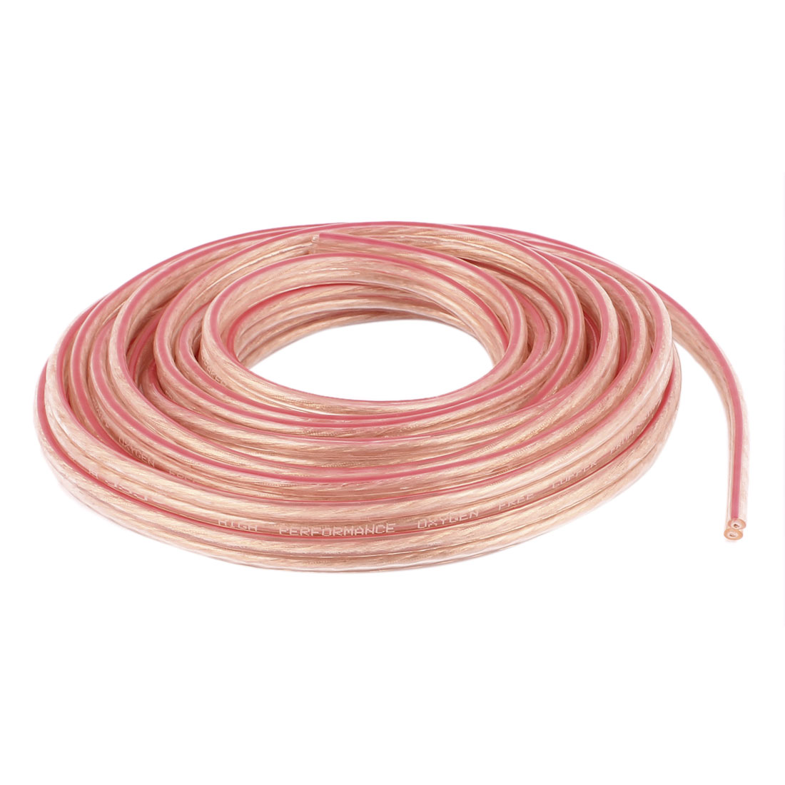 5 Meter 16 Ft Speaker 200 Copper Wire Core Cable Cord Coil Car Home Audio Gold Tone