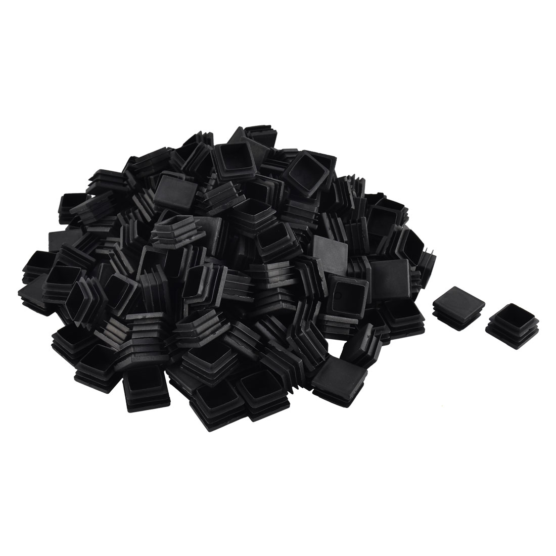 Furniture Table Chair Legs Plastic Square Tube Pipe Insert Cap Cover Black 32 x 32mm 200pcs