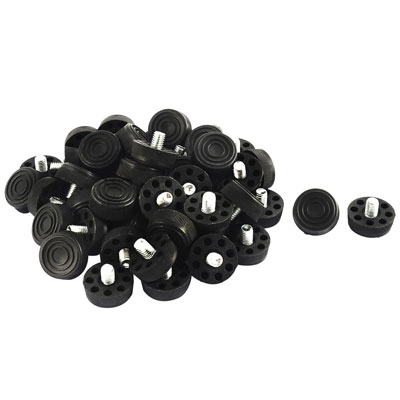 Furniture Table Chair 8 Holes Base Adjustable Leveling Foot Black M8 x 10mm Male Thread 50pcs