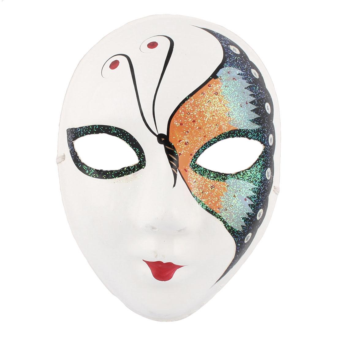 Woman Gypsum Hand Paint Beijing Peking Opera Facial Fashion Costume Makeup Mask