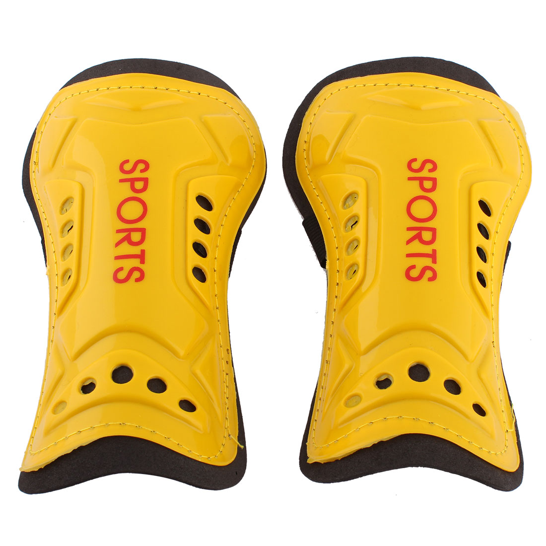 Outdoor Sports Support Shield Calf Sleeve Guard Leg Protector Yellow Pair