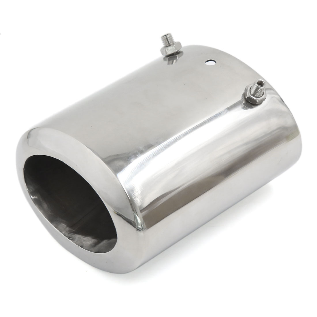 Stainless Steel Oval Slanted Exhaust Muffler Tip 7cm Inlet Dia Silver Tone for Regal