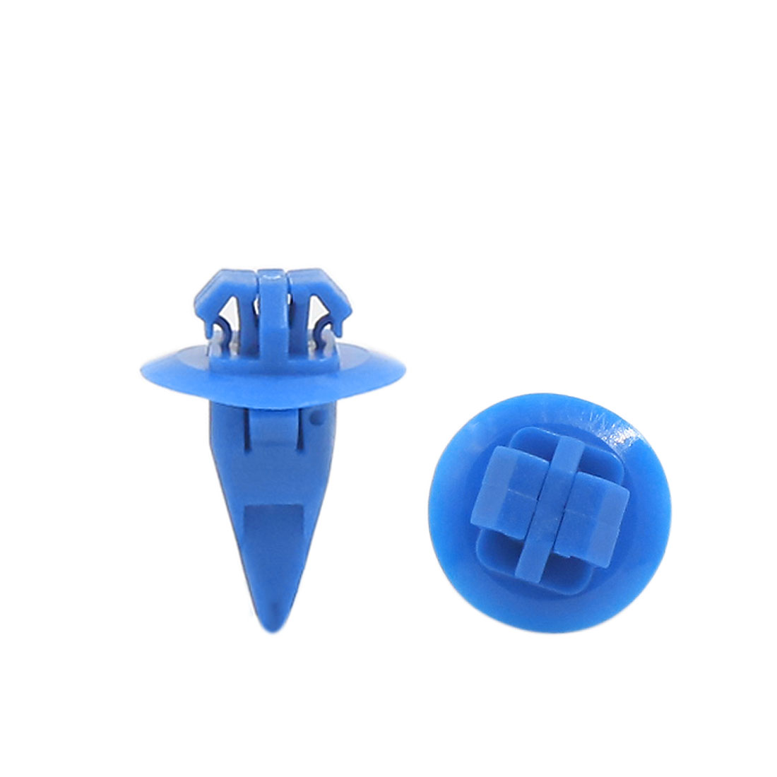 100pcs 8 x 10mm Hole Size Fender Wheel Flare Moulding Clip Retainer Fastener Blue for Toyota