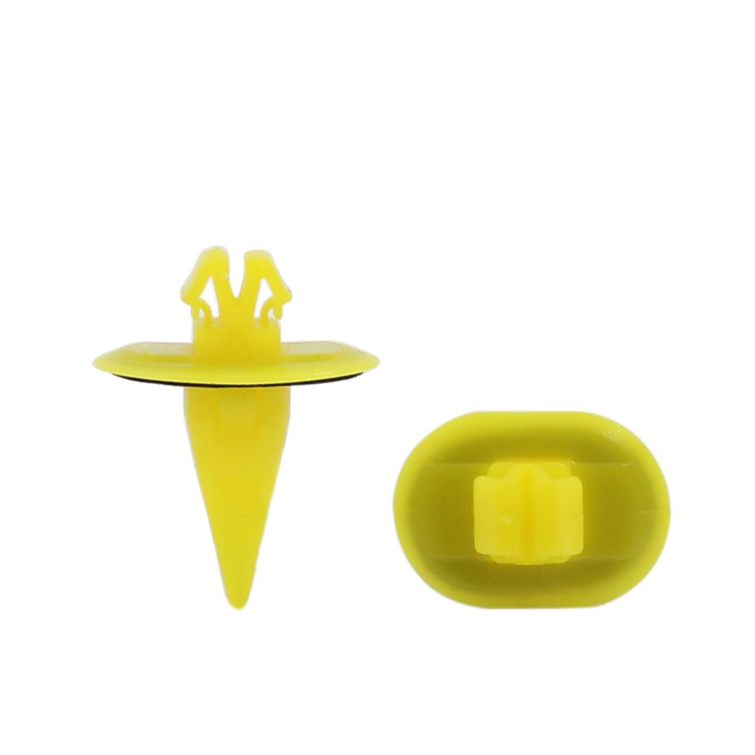 100pcs Fit 8 x 11mm Hole Size Fender Wheel Flare Moulding Clip Retainer Fastener w Flat Washer Yellow For Toyota