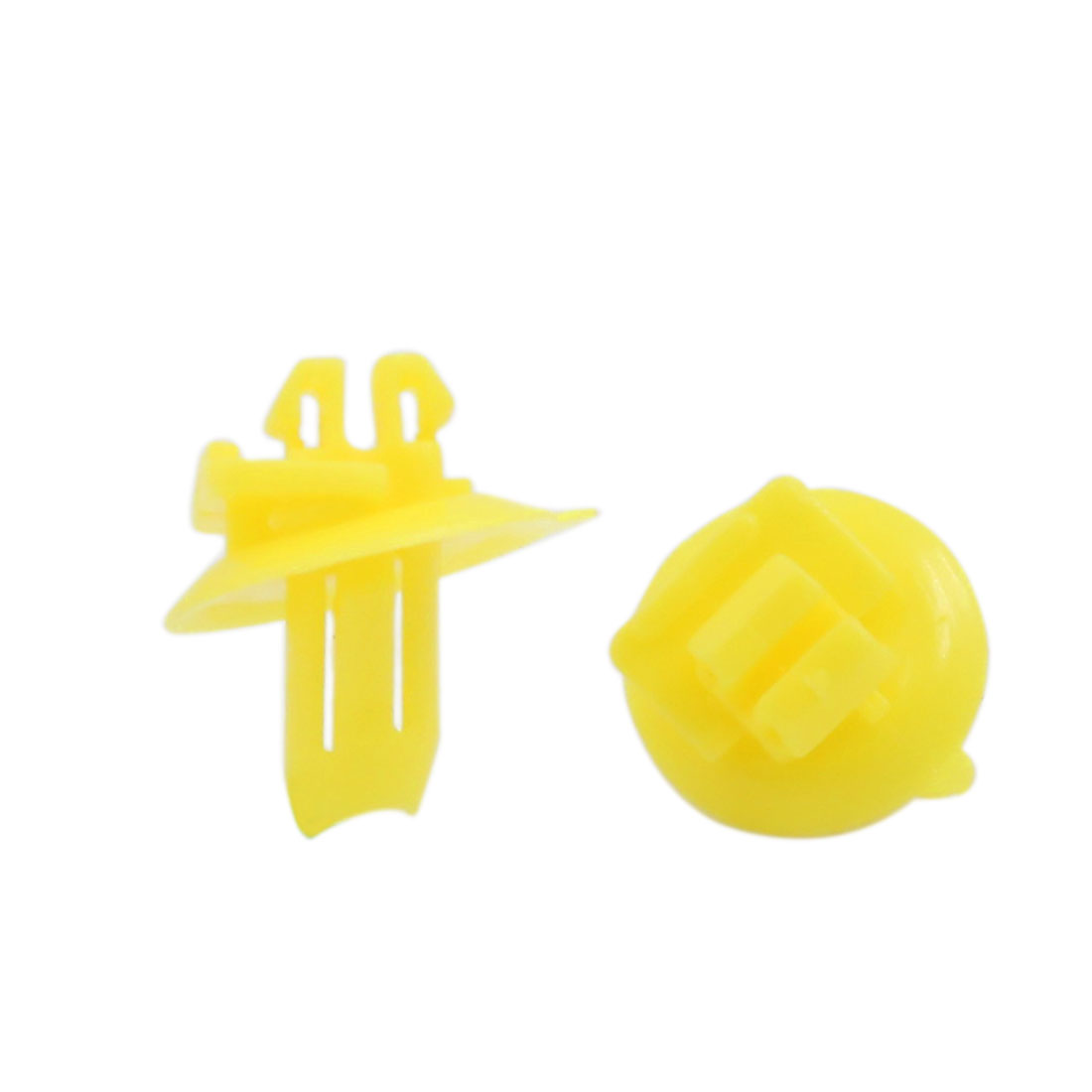100pcs 8x10mm Hole Size Plastic Rivet Wheel Arch Cover Fastener Yellow for Toyota