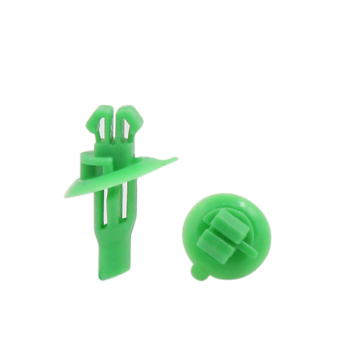 100pcs 8x10mm Hole Size Plastic Rivet Wheel Arch Cover Fastener Green for Toyota