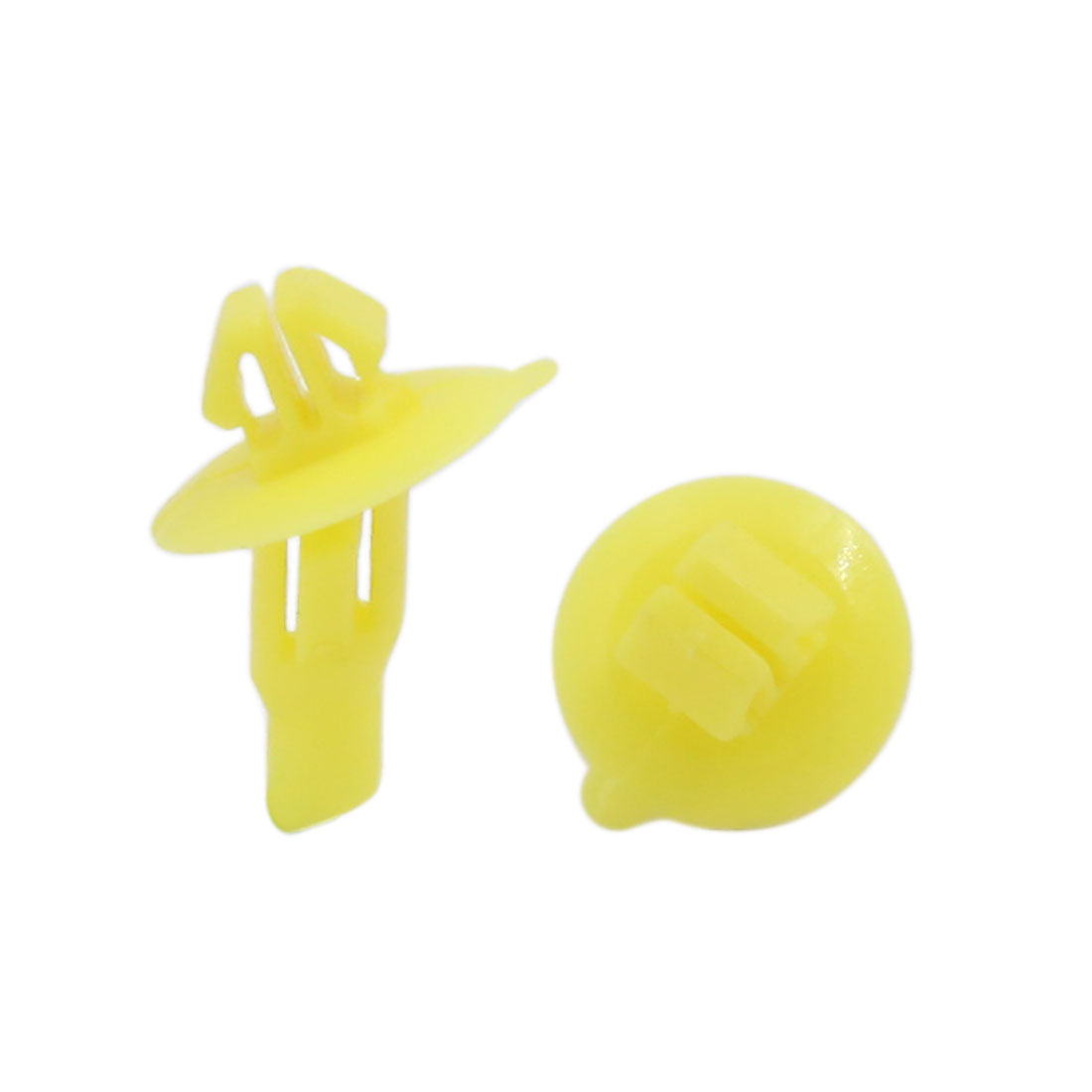 100pcs 7 x 11 mm Hole Size Plastic Rivet Wheel Arch Cover Fastener Yellow for Toyota