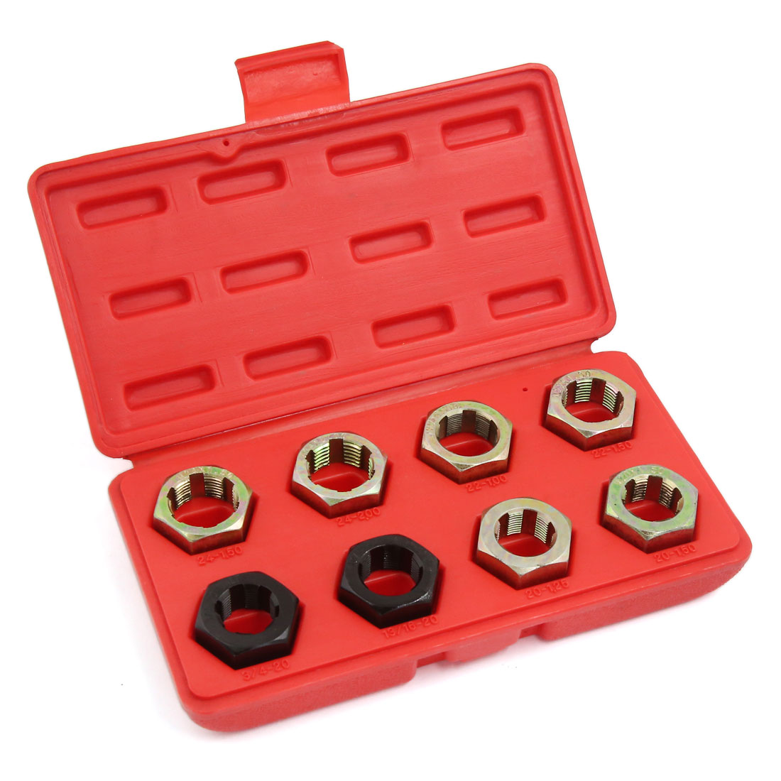 8pcs Spindle Rethreading Die Set in Case Thread Restore For Car