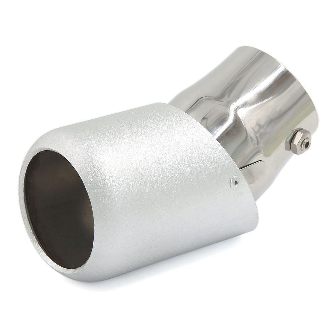 Universal Silver Tone Car Exhaust Tail Muffler Tip Pipe fit Diameter 2.6 Inch