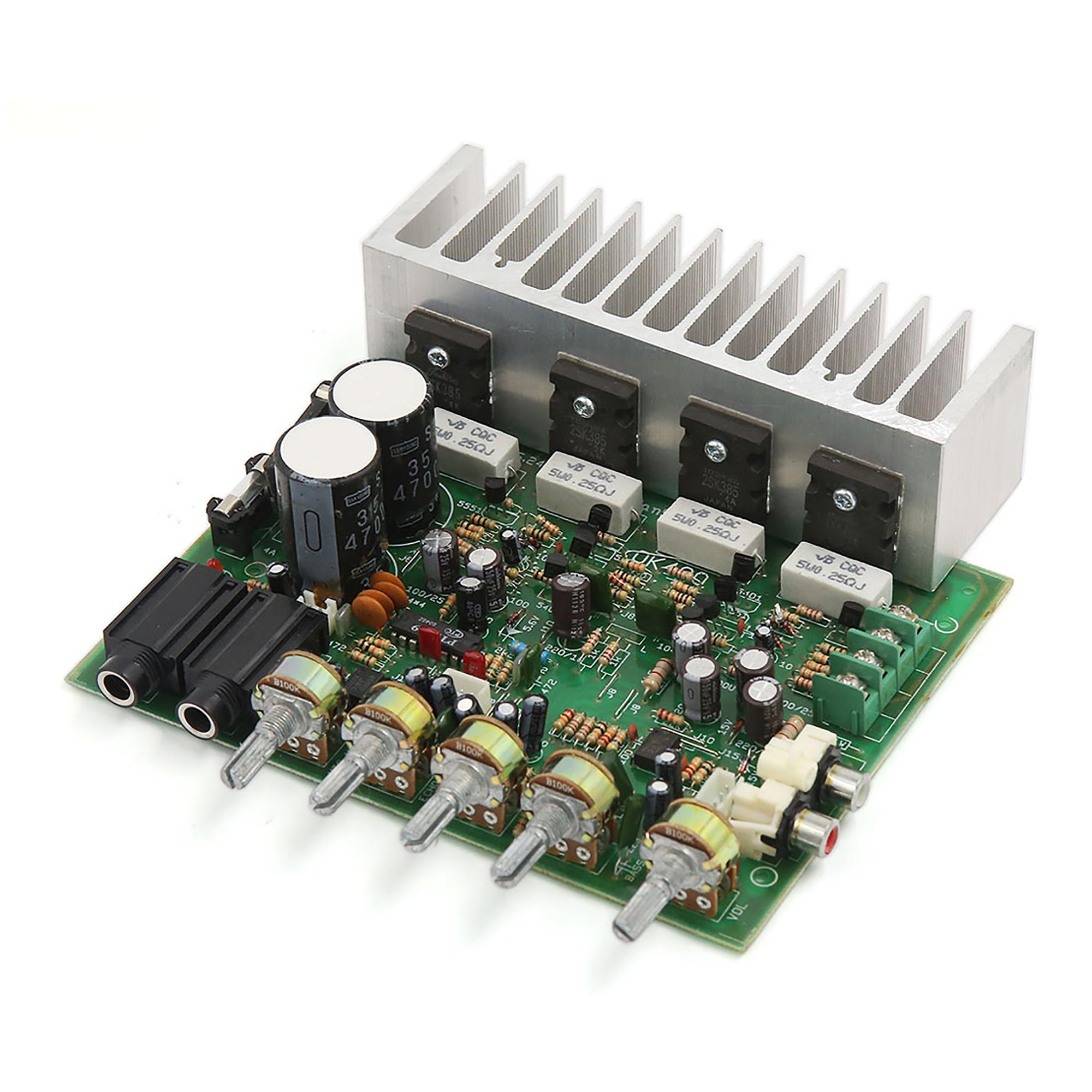 AC22-26V 250W+250W LFE Subwoofer Audio Hi-Fi 4 Channel Car Boat Stereo Power Amplifier Board