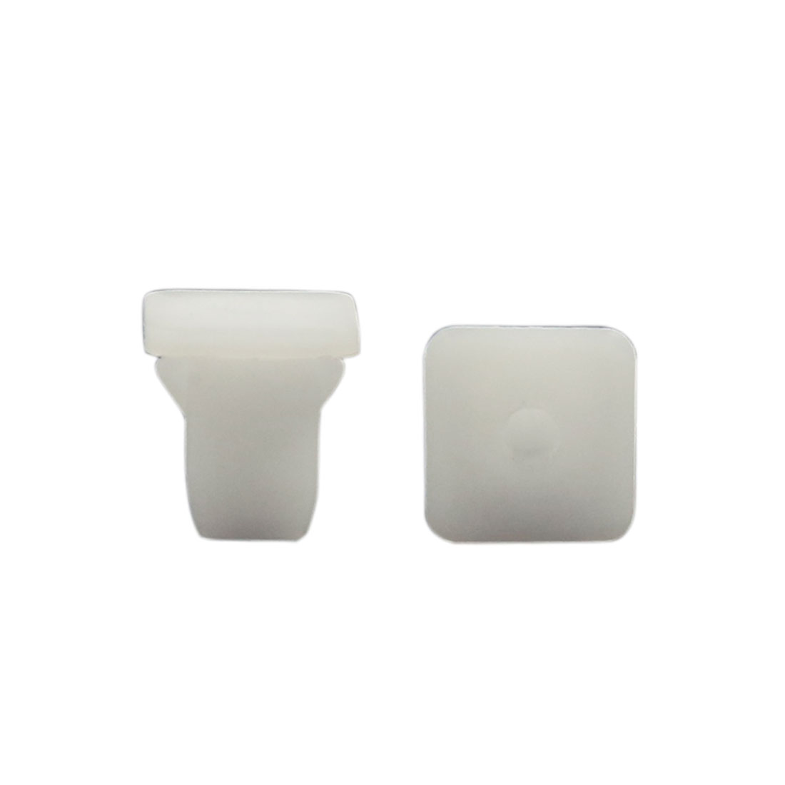 100 Pcs White Plastic Square Car 8mm Hole Rivets Fastener Panel Fixing Clips