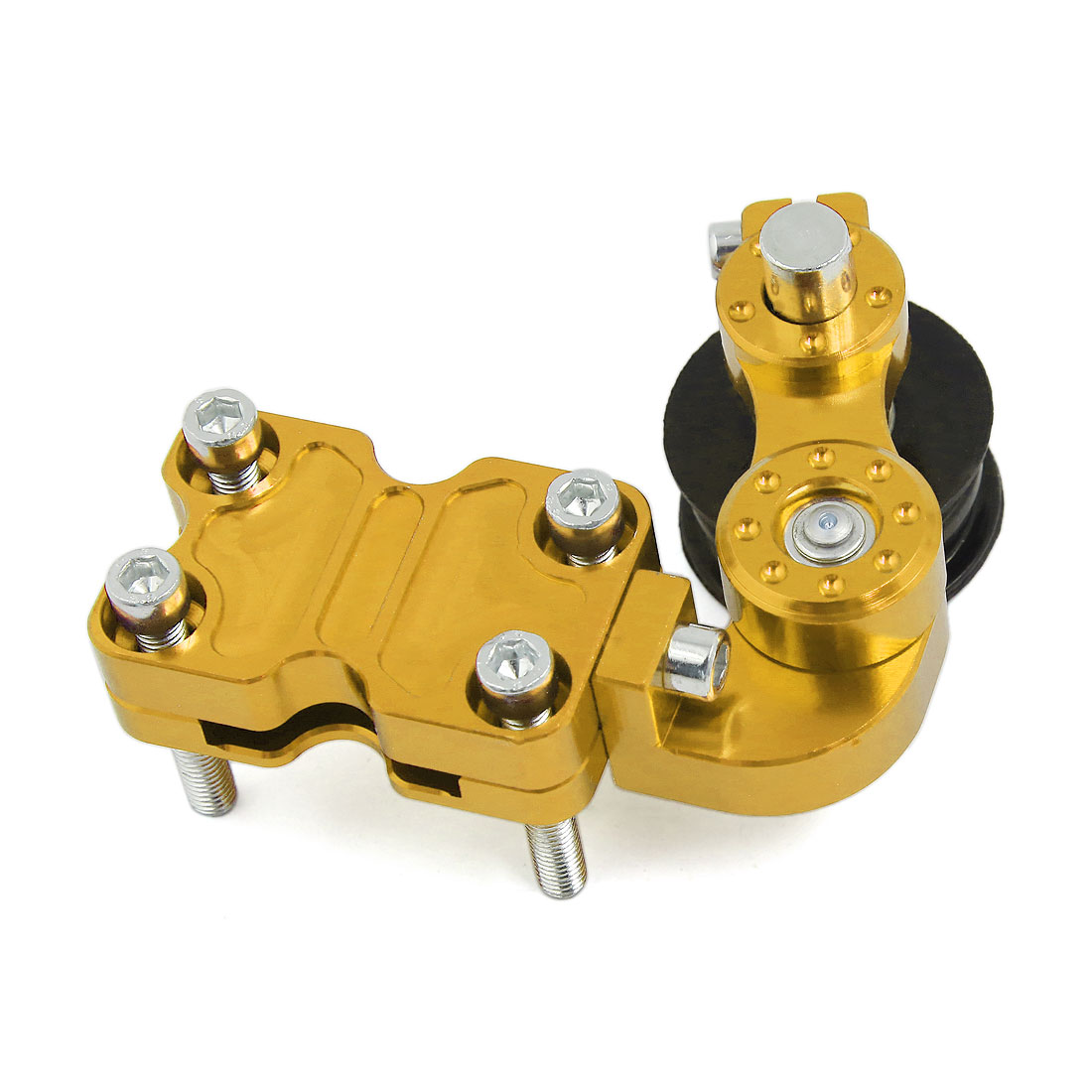 Gold Tone Metal CNC Chain Tensioner Adjuster for Motorcycle