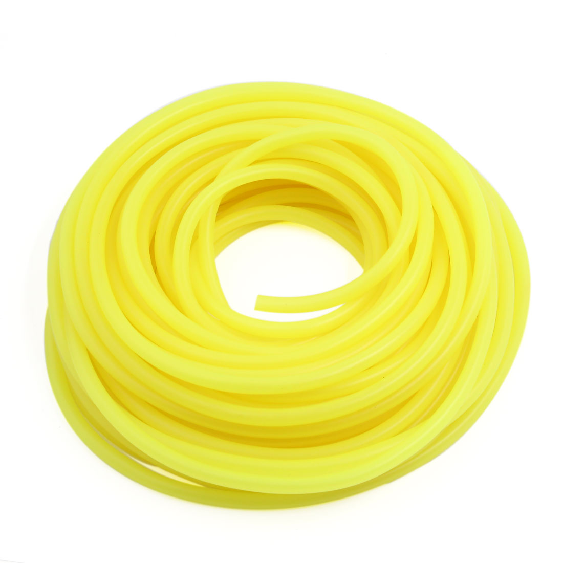 Yellow 18m Dia 5mm Silicone Fuel Petrol Pipe Tube Hose for Motorcycle