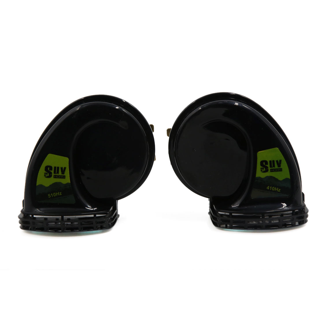 2 Pcs Black Vehicle Motor Waterproof Super Sound High Low Tone Horn