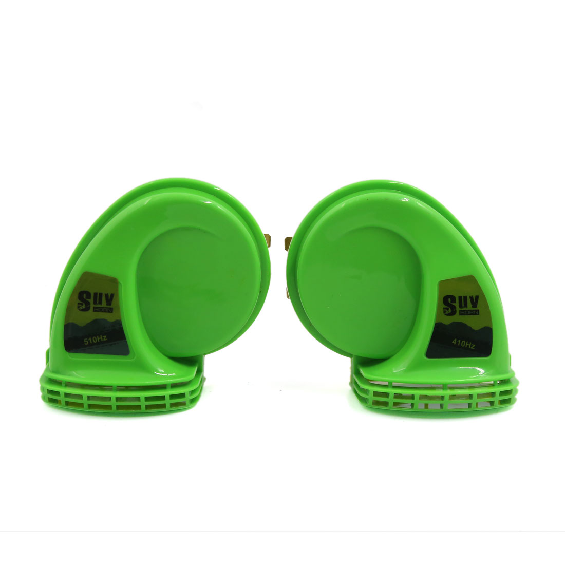 2 Pcs Waterproof Sandproof Super Sound High Low Tone Horn for Car Motorcycle
