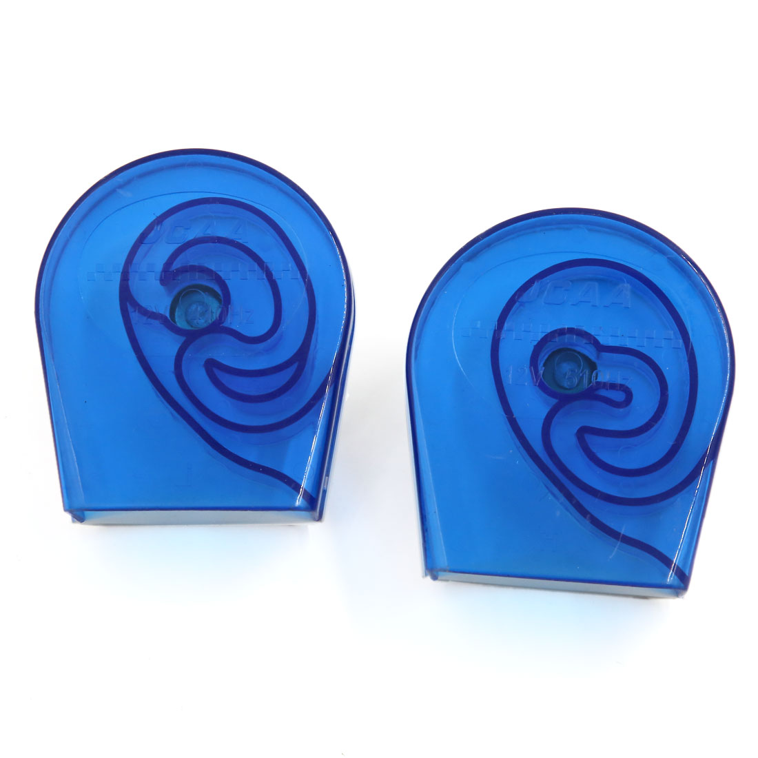 410Hz 510Hz 2 Pcs Electric High Low Tone Snail Horn for Car Motorcycle