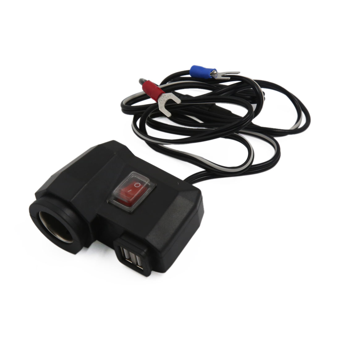 Vehicle Motorcycle Double USB Socket Cigarette Lighter Charger Adapter Splitter