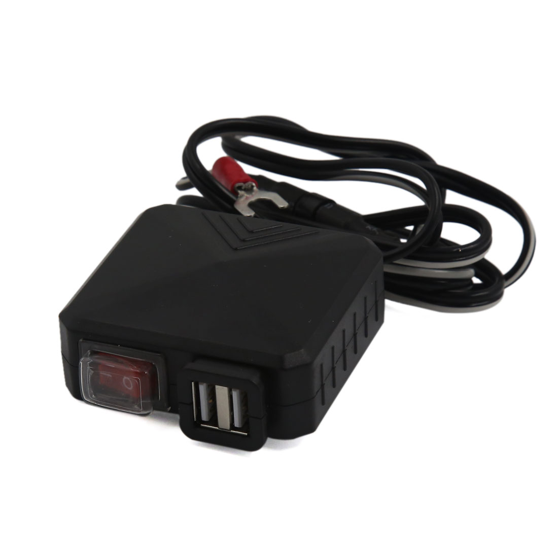Double USB Socket Cigarette Lighter Charger Adapter for Vehicle Motorcycle