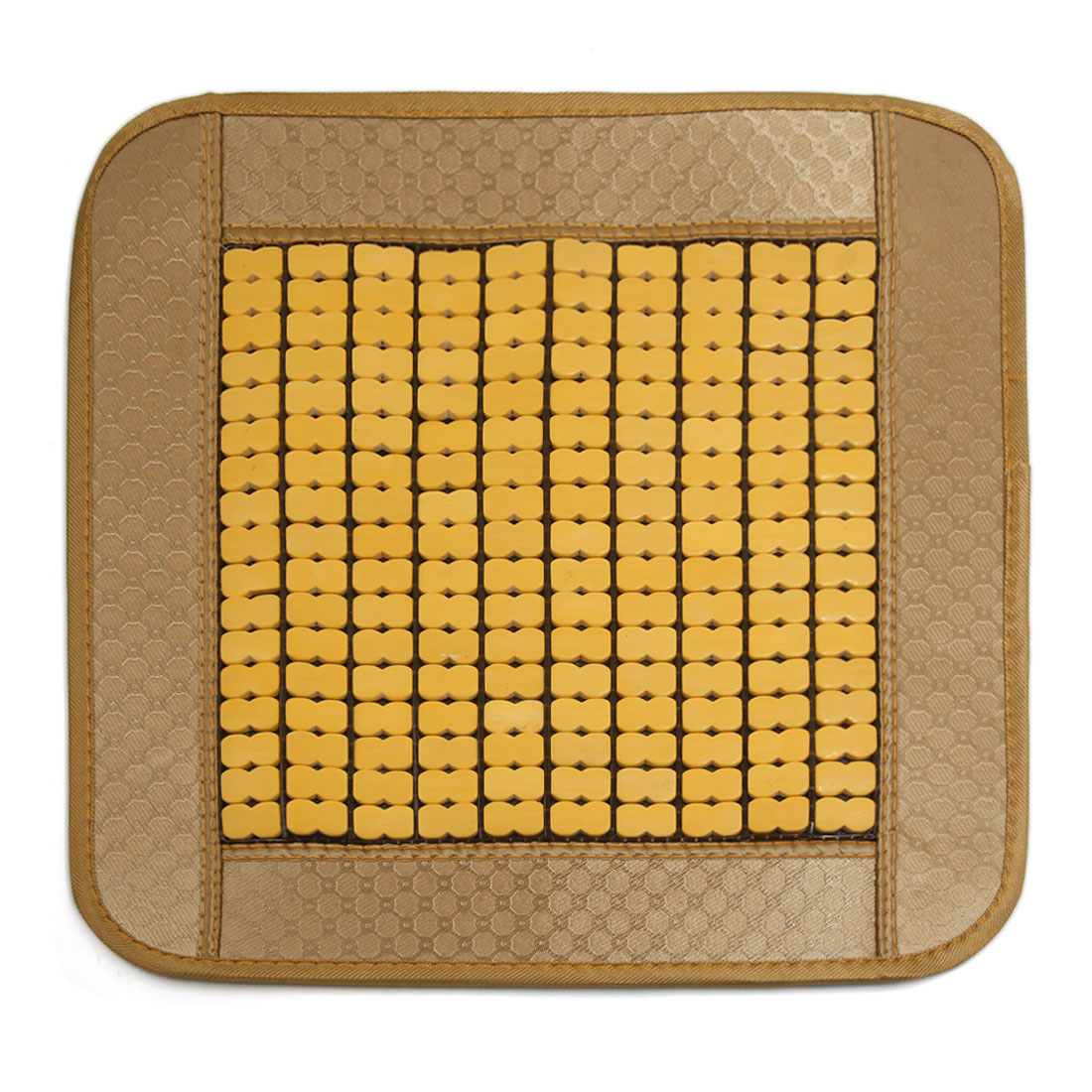 Summer Bamboo Wooden Comfort Car Seat Cushion Pad Breathable Cover Mat Beige Yellow