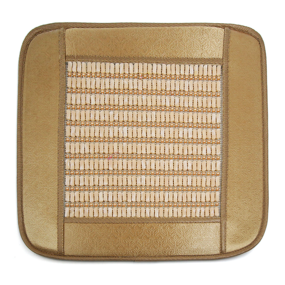 45 x 45cm Beige Sqaure Shape Multi Beads Desgin Seat Cushion Pad for Auto Car