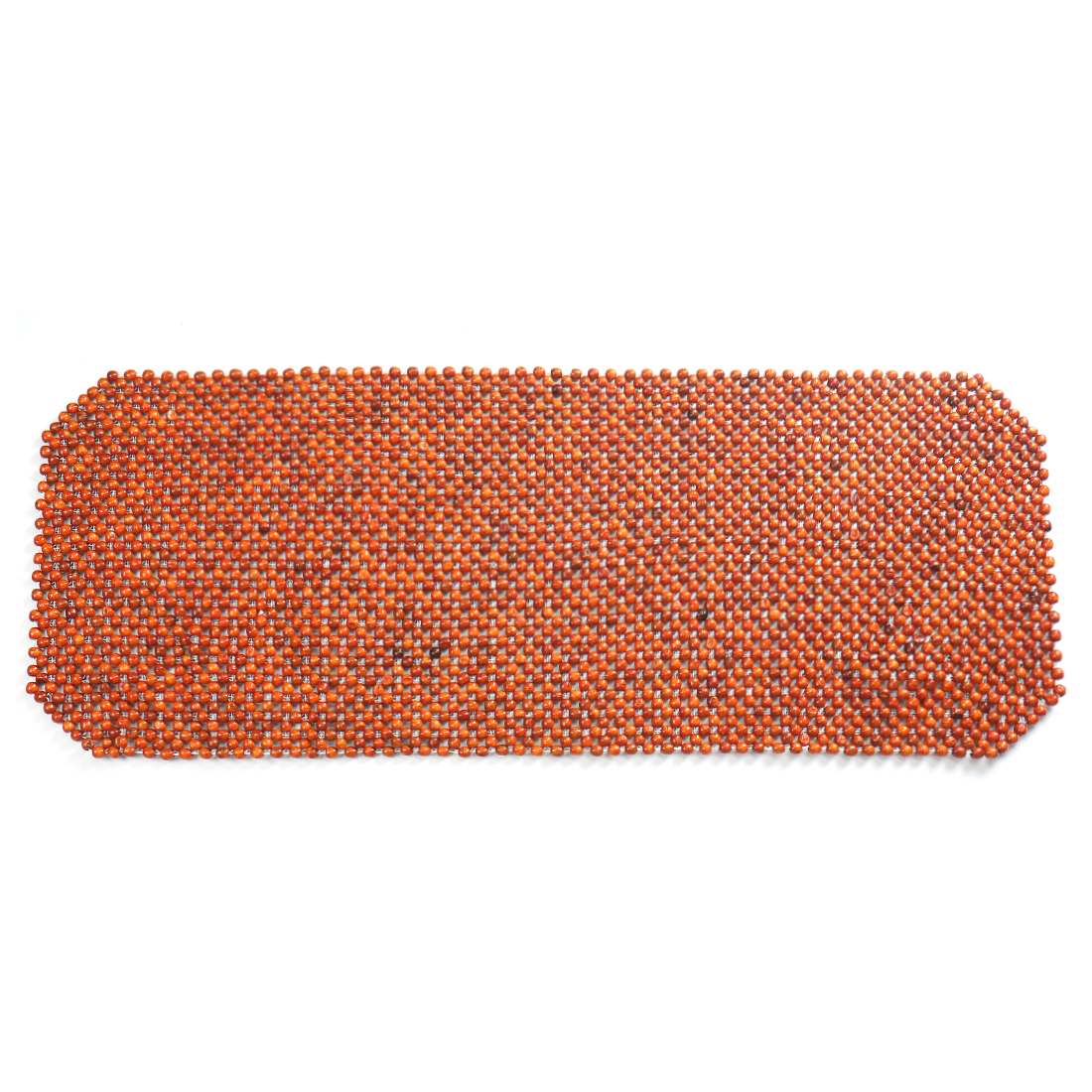 120 x 50cm Brown Wooden Multi Beads Connected Back Seat Cushion Pad Cover for Car