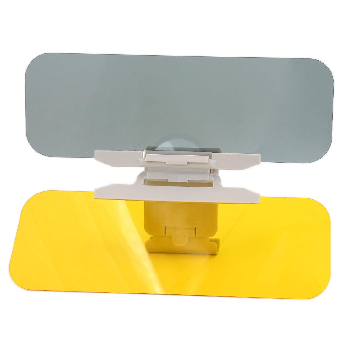 HD Anti-Glare Universal Car Flip Down 2 in 1 Day Night Vision Shield Sun Visor