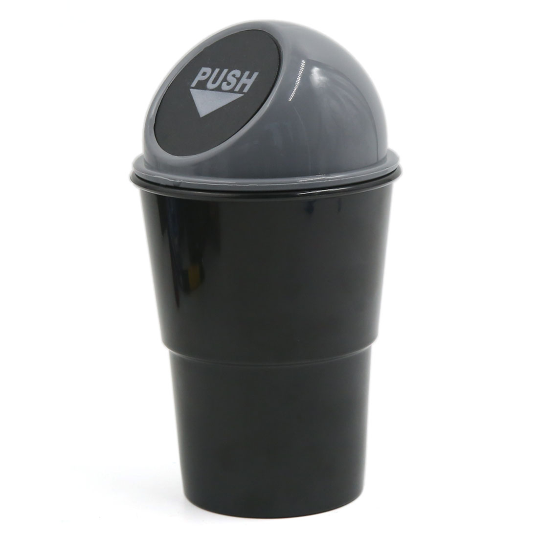 Auto Car Trash Rubbish Bin Can Office Home Garbage Dust Case Holder Black Gray