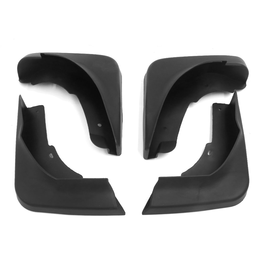 4PCS Black Front Rear Splash Guards Plastic Mud Flaps Set for Magotan