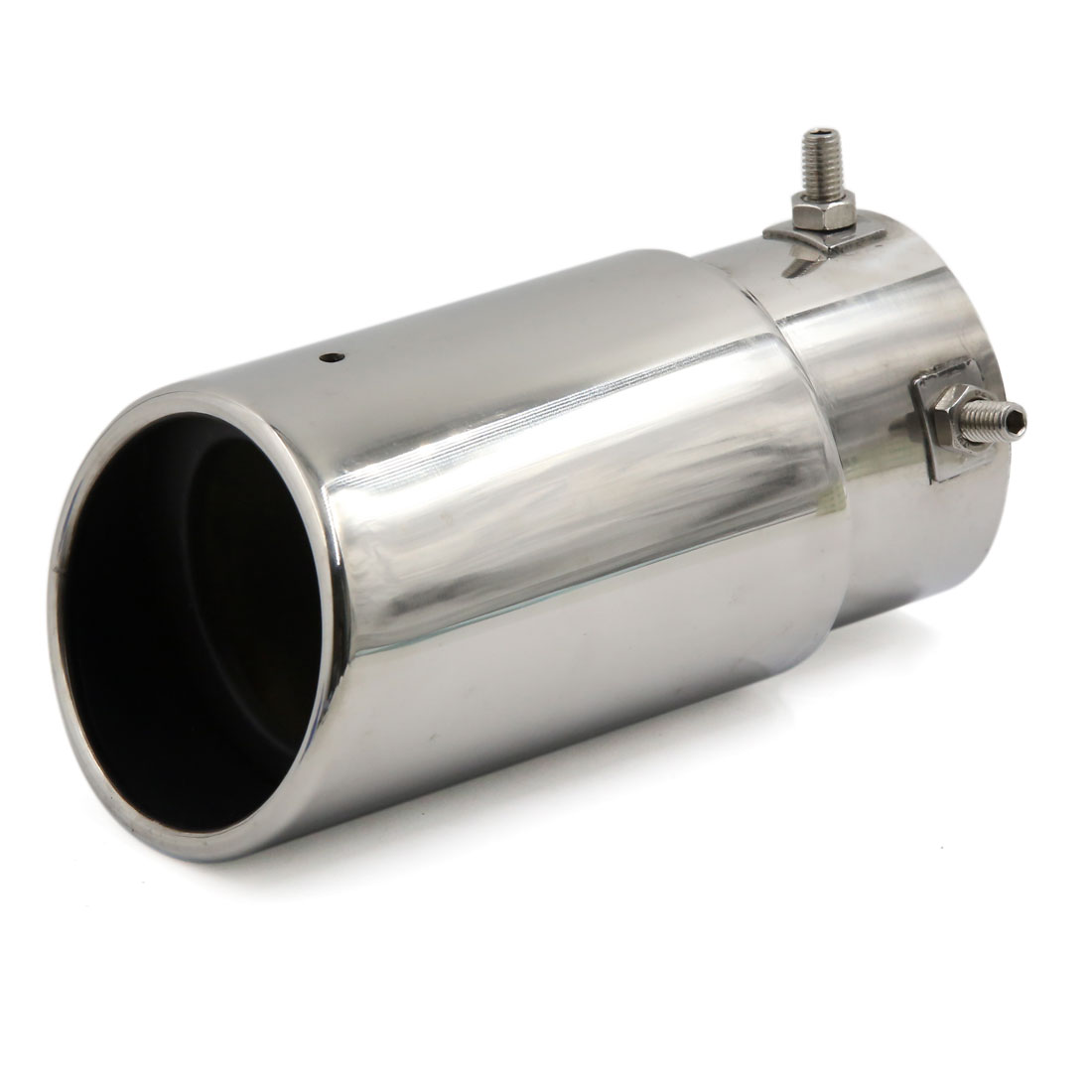 Silver Tone Exhaust Muffler Tip Modified Silencer Tail Pipe for Honda