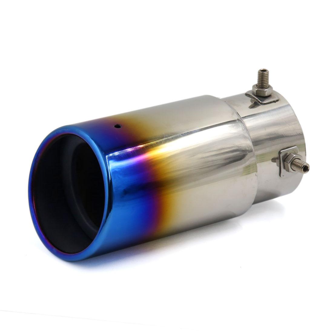 Vehicle Car Titanium Blue Exhaust Muffler Tip Pipe Silencer for Honda