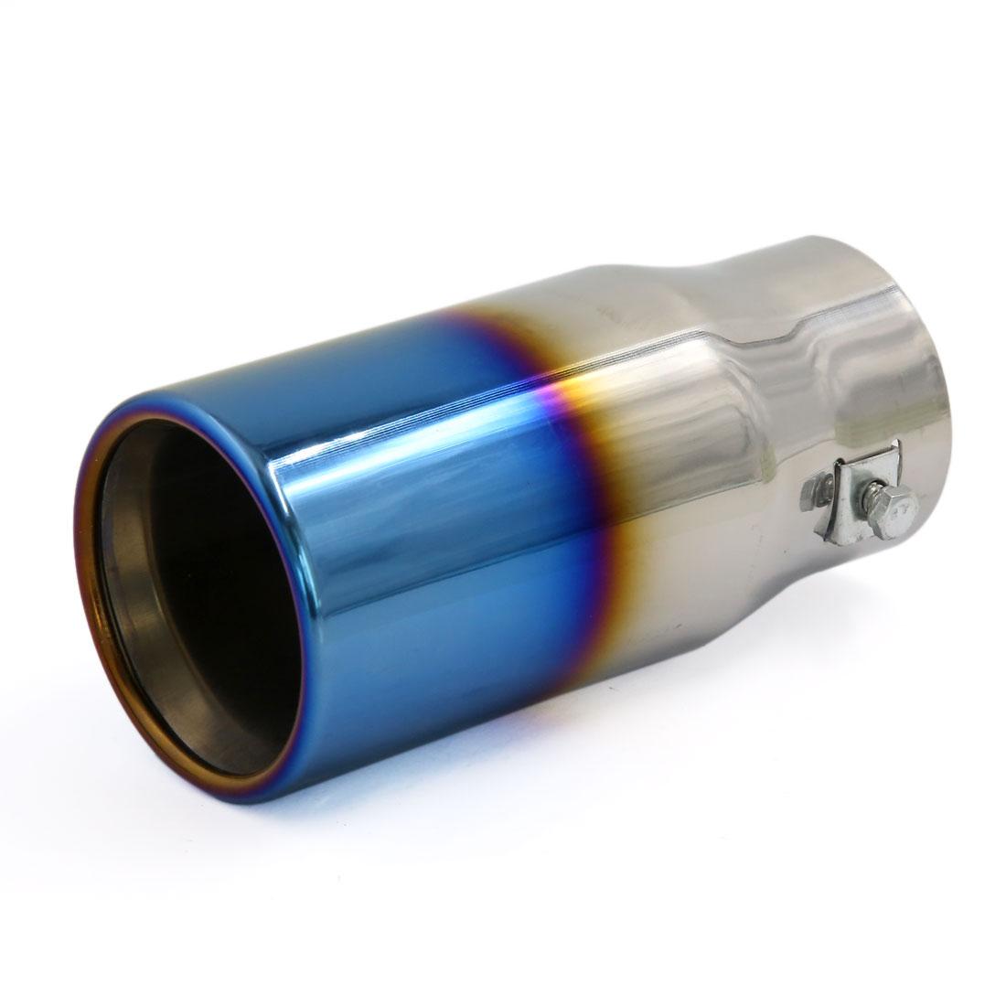 Titanium Blue Modified Exhaust Muffler Tip Silencer for Vehicle Car