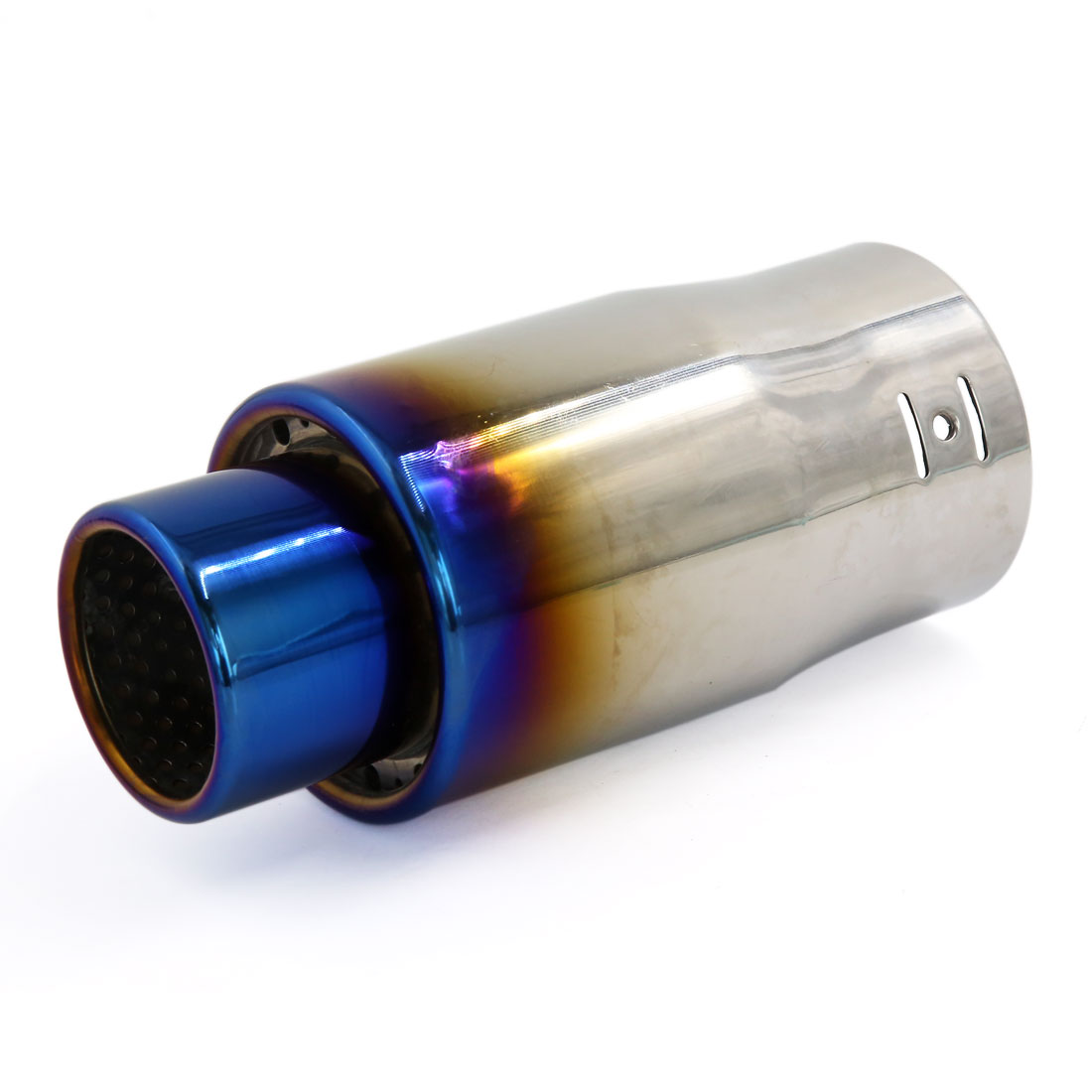 Titanium Blue Stainless Steel Silencer Exhaust Muffler Tip Pipe for Vehicle Car