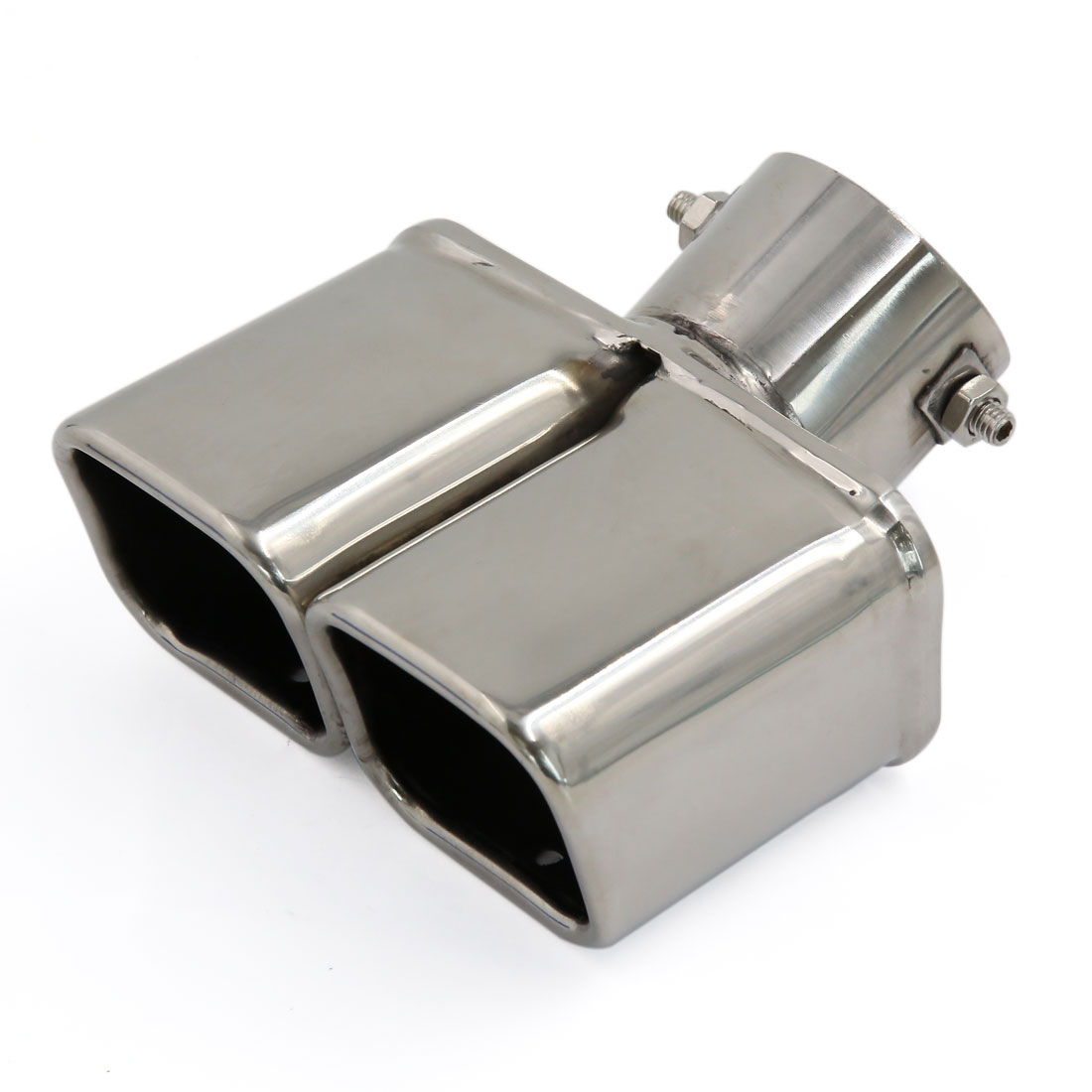 63mm Dia Inlet Silver Tone Exhaust Muffler Tip Tail Silencer for Auto Car